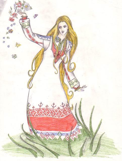 богиня леля рисунки